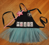 Show and Tell Tutu Apron (black with aqua tulle)