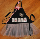 Show and Tell Tutu Apron (black with pink tulle)