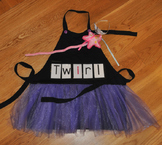 Show and Tell Tutu Apron (black with lavender tulle)