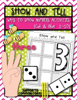 Ways to Show Numbers Show and Tell Cut & Glue Activities