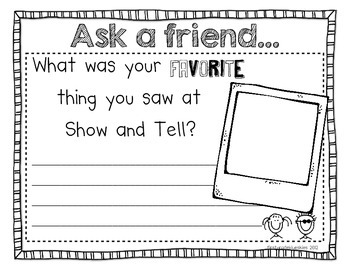 Show and Tell for Common Core Listening and Speaking Standards