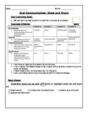 Show and share,Ontario oral communication rubric