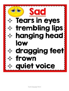 Show don't Tell Anchor Chart posters