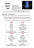 Show don't Tell lesson