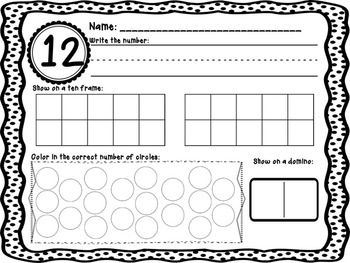 Show me: Counting and Cardinality work for numbers 11-20