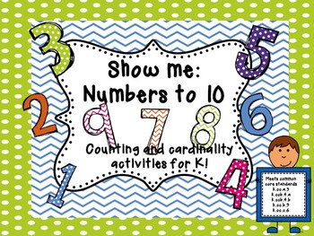 Show me:  Counting and cardinality activities 1-10
