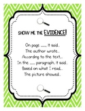 Show me the EVIDENCE! Student reference chart with languag