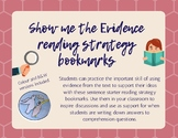 Show me the Evidence! reading strategy bookmarks