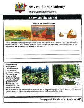 Show me the Monet