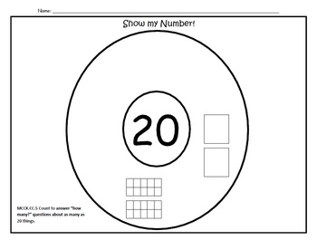 Show my Number Circle Maps (number to 20)