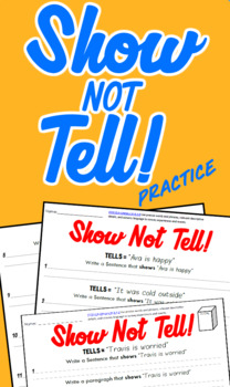 Show not Tell Practice Pack