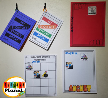 Classroom Rewards Shout Out Stickers Sticky Brag Tags Growing Bundle