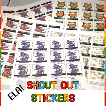 Show off Your Success Stickers Sticky Brag Tags for ELA
