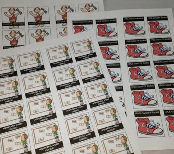 Classroom Rewards Shout Out Stickers ELA