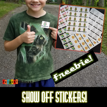 Show off Stickers Sticky Brag Tags Incentives classroom management FREEBIE