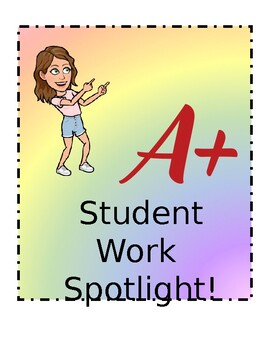Show off student work w/ Student Sport Light! Bitmoji & Editable!