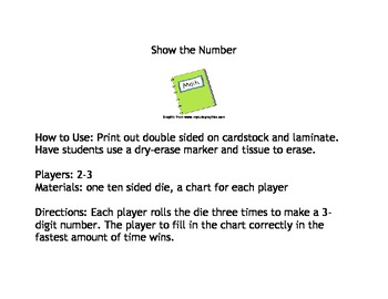Show the Number Math Game