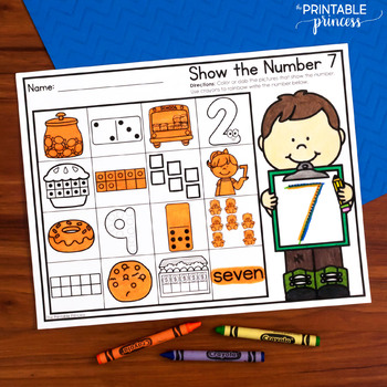 Show the Number   Numbers 0 - 20
