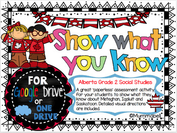 Show what you know - a DIGITAL Google Drive Assessment Task