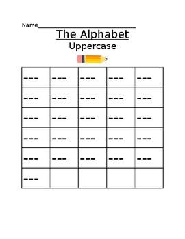 Show what you know alphabet