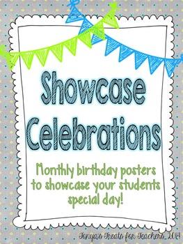 Showcase Celebrations~birthday posters~EDITABLE