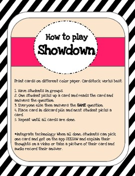 Showdown: Get To Know You
