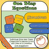 Showdown: Solving One-Step Equations