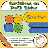 Showdown: Solving with Variables on Both Sides