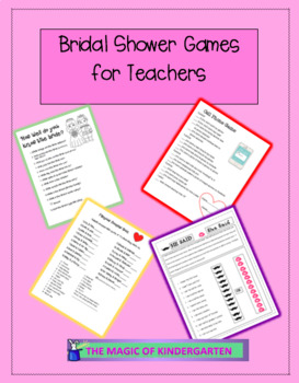 Shower Party Games for Teachers