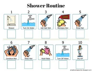 Shower Visual Schedule