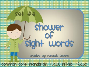 Shower of Sight Words Set #4