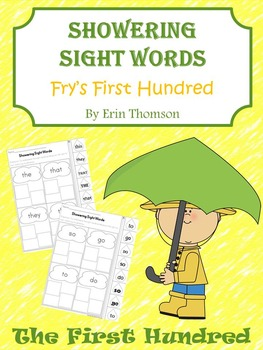 Showering Sight Words - Fry's First Hundred