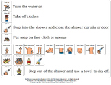 Showering Step-By-Step Visuals