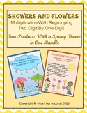 Showers and Flowers Bundle (Multiplication With Regrouping: 2-Digit By 1-Digit)
