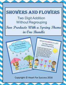 Showers and Flowers Bundle (Two Digit Addition Without Regrouping)