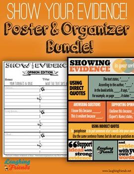 Showing Evidence Bundle (Poster & Worksheets) [CSSS]