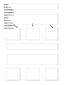 Showing Evidence Graphic Organizer