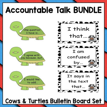 Accountable Talk & Classroom Conversations to Show Text Evidence *Bundle*