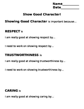 Showing Good Character