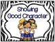 Showing Good Character Clip Chart & Brag Tags   Black Zebr