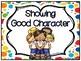 Showing Good Character Clip Chart & Brag Tags | Rainbow Polka Dot