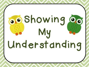 Showing My Understanding Posters {Owl Theme!}