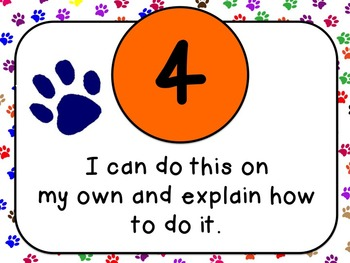 Showing My Understanding Posters {Paw Print Theme!}