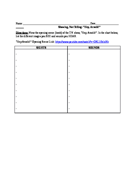 Showing, Not Telling (Descriptive Writing) Activities