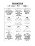 Showing Not Telling - What Emotions & Feelings Look Like