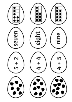 Showing Numbers (A Spring Matching Activity)