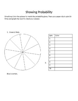 Showing Probability