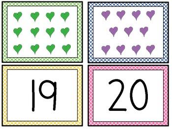 Showing Teen Numbers in Multiple Ways-HEARTS!