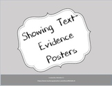 Showing Text Evidence Posters - Polka Dot