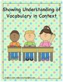 Showing Understanding of Vocabulary in Context